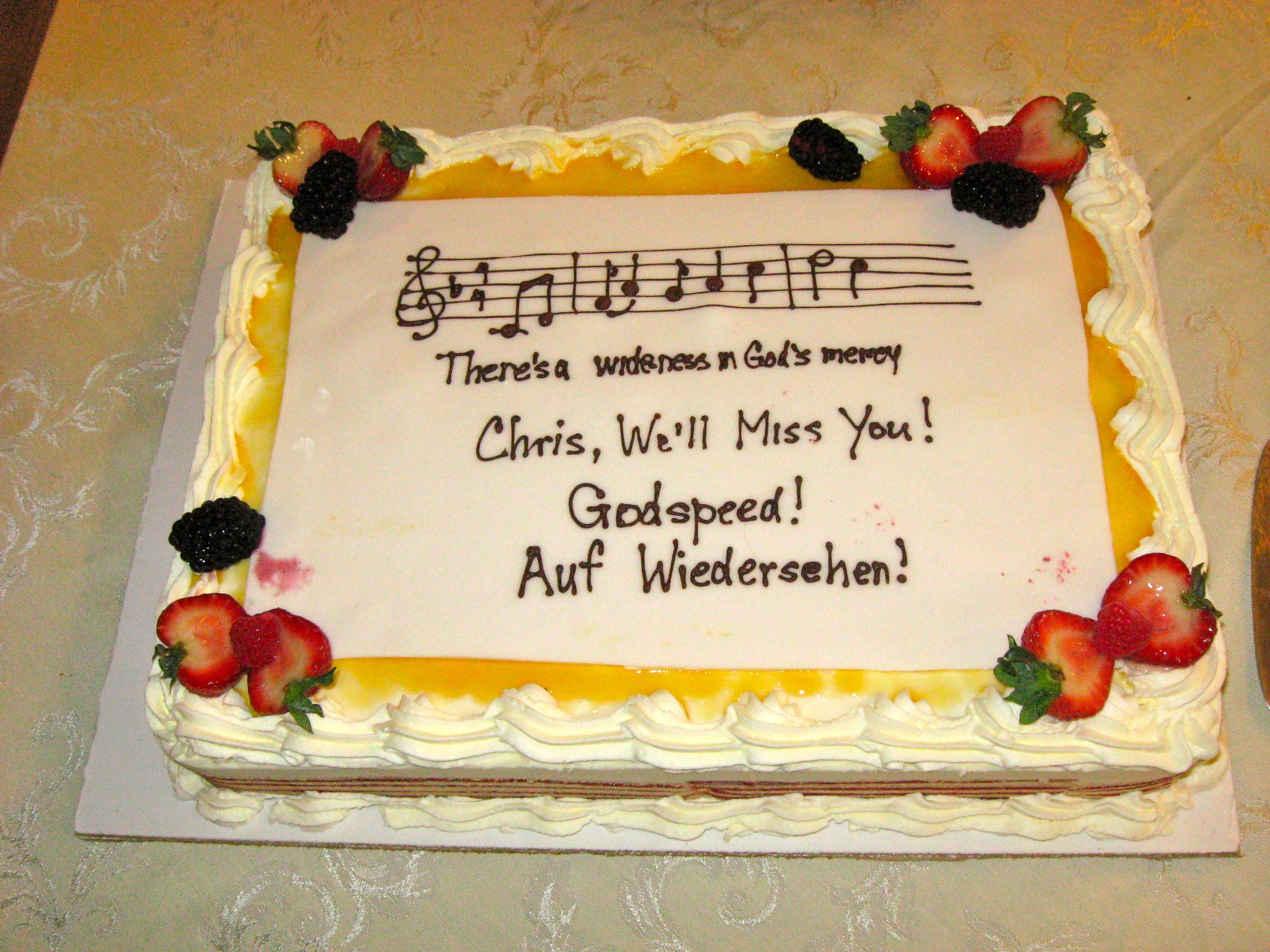 Words To Put On A Farewell Cake Ideas 43483 | Sayings For Co
